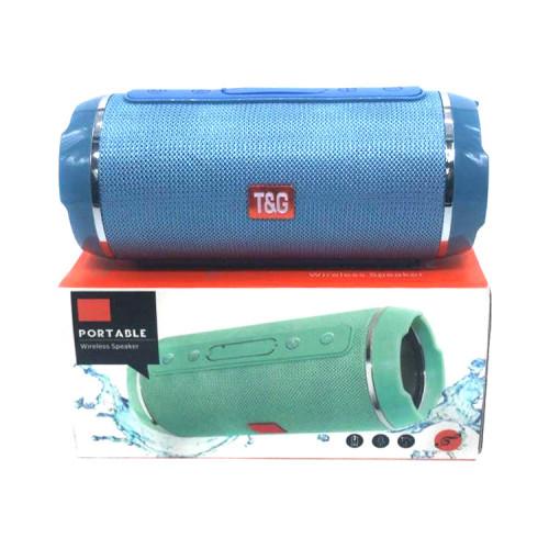 Портативная колонка TG-116 голубой T&G