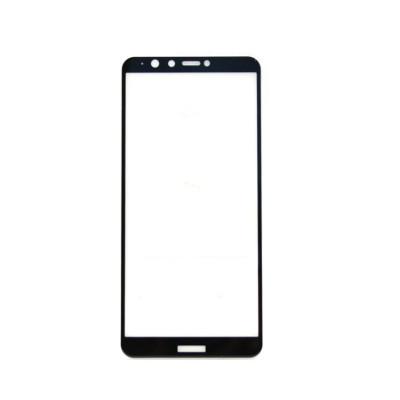 Защитное стекло 3D для Huawei Y9 2018 черный (техпак)