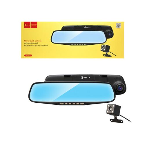 """Видеорегистратор-зеркало M069 камера заднего вида 4.3"""" HD, угол обзора 120, TFCard, AVI черный DREAM"""