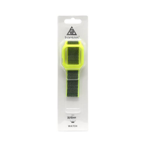 Ремешок тканевый + рамка для Apple Watch 38-40mm неоновый