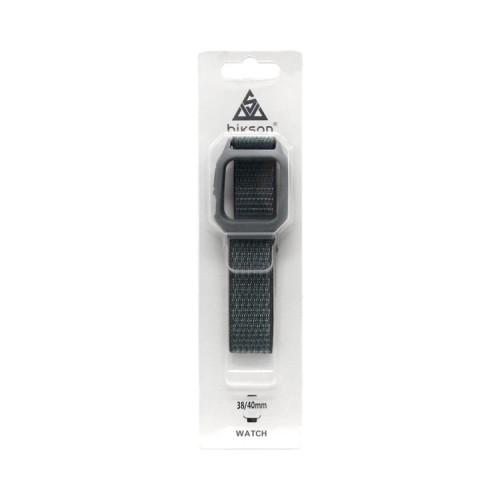 Ремешок тканевый + рамка для Apple Watch 38-40mm серый