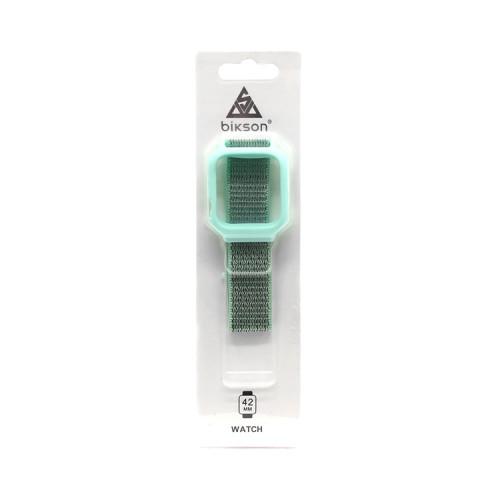 Ремешок тканевый + рамка для Apple Watch 40-42mm бирюзовый