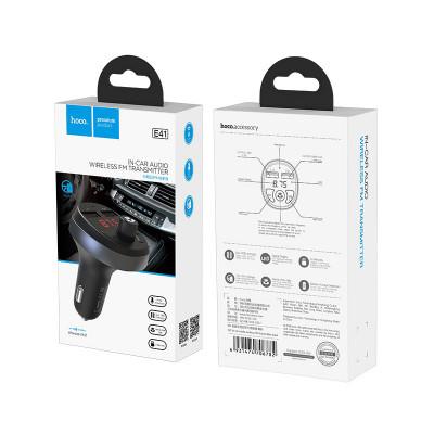 FM-трансмиттер E41 2USB Wireless 4.2 черный HOCO