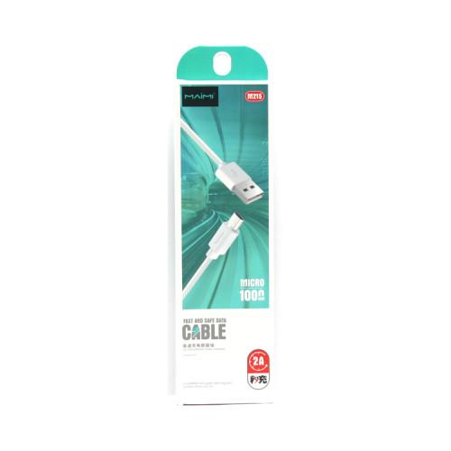 Кабель Micro USB M215 белый MAIMI