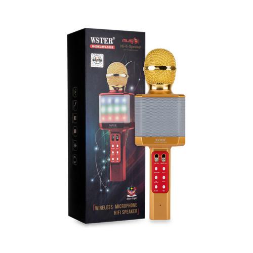 Караоке-микрофон WS-1828 золотой WSTER