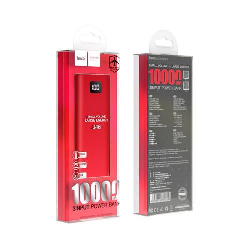 Внешний аккумулятор J46 10000mAh красный HOCO