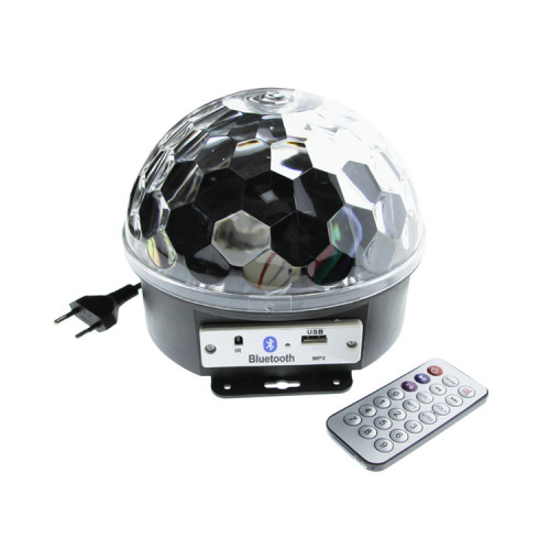 Светодиодный диско-шар + пульт ДУ (Bluetooth/MP3/USB/MicroSD) KW