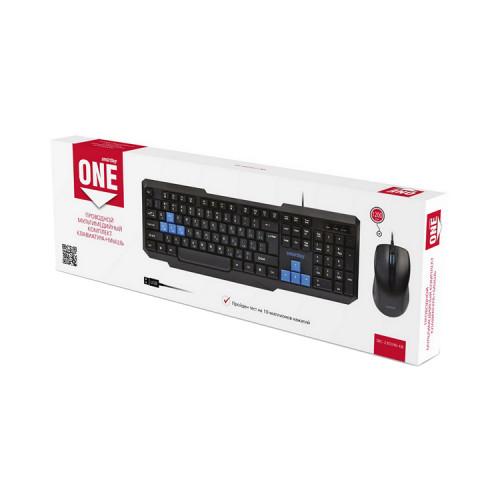Клавиатура и мышь SBC-230346-KB черно-синий SMARTBUY