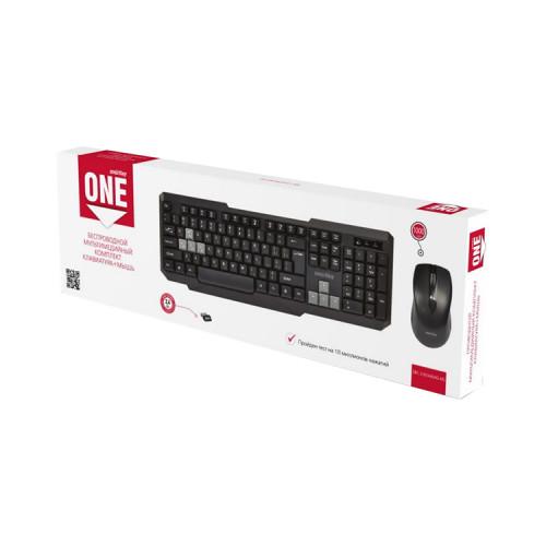 Клавиатура и мышь SBC-230346-KG черно-серый SMARTBUY