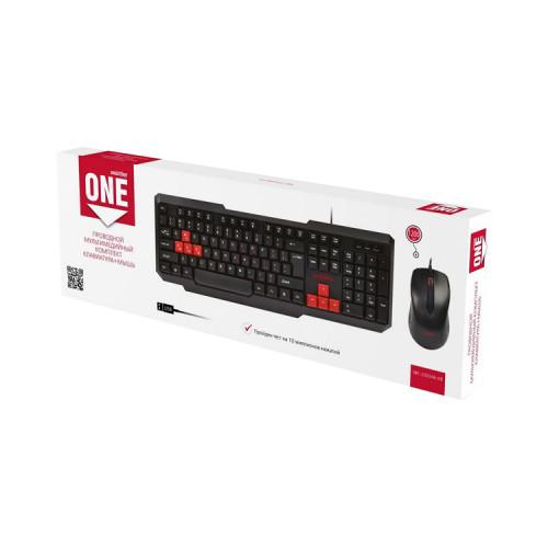 Клавиатура и мышь SBC-230346-KR черно-красный SMARTBUY