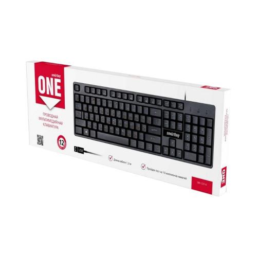 Клавиатура проводная ONE SBK-237-K черный SMARTBUY