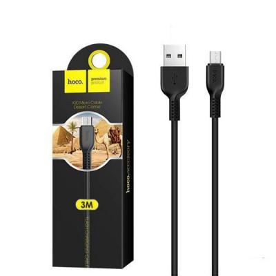 Кабель Micro USB X20 3M черный HOCO