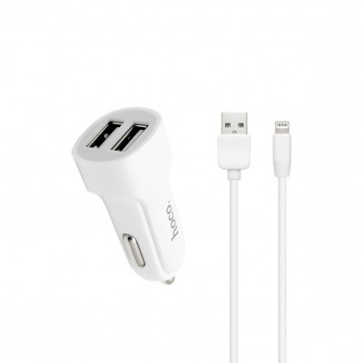 АЗУ 2USB Z2A 2.4A + кабель Lightning белый HOCO