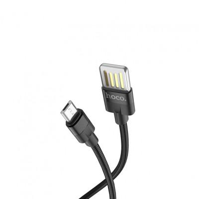 Кабель Micro USB U55 2.4A 1.2M черный HOCO