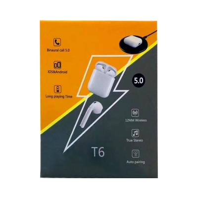 Беспроводные наушники сенс.T6  5.0 белый TWS
