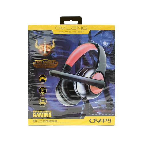 Полноразмерные игровые наушники OV-P9 черно-красный OVLENG
