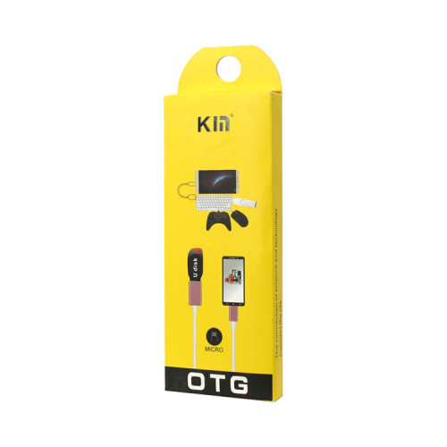 Кабель OTG USB - Micro USB розово-белый KIN