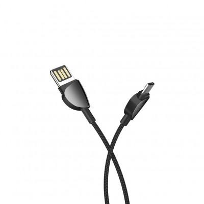 Кабель Micro USB U62 2.4A 1.2M черный HOCO