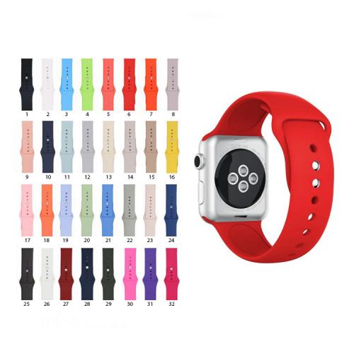 Ремешок силиконовый для Apple Watch 38-40mm (в ассортименте)