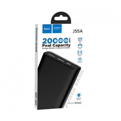 Внешний аккумулятор J55A 20000mAh черный HOCO
