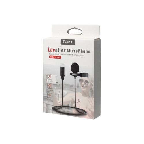 Микрофон петличный JH-042 Type-C черный LM