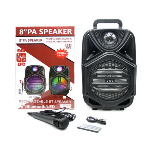 Портативная колонка DG-1001 с микрофоном + пульт ДУ черный