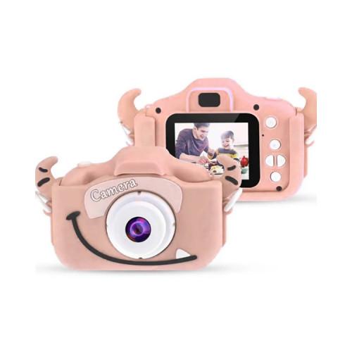 Детский фотоаппарат с фронт. камерой KC650 (монстрик) розовый