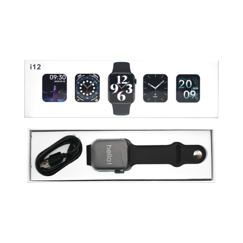 Смарт-часы i12 (44mm) черный SERIES 6