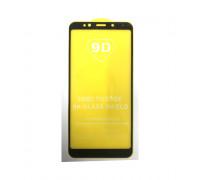 Защитное стекло 3D для Xiaomi Redmi 5+ черный (техпак)