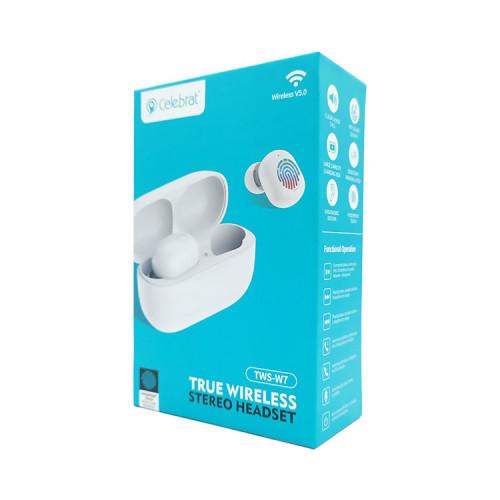Беспроводные наушники TWS-W7 белый CELEBRAT