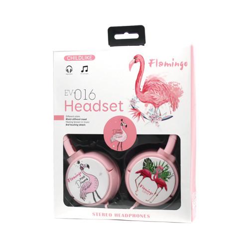 Полноразмерные наушники EV-016 (фламинго) розовый