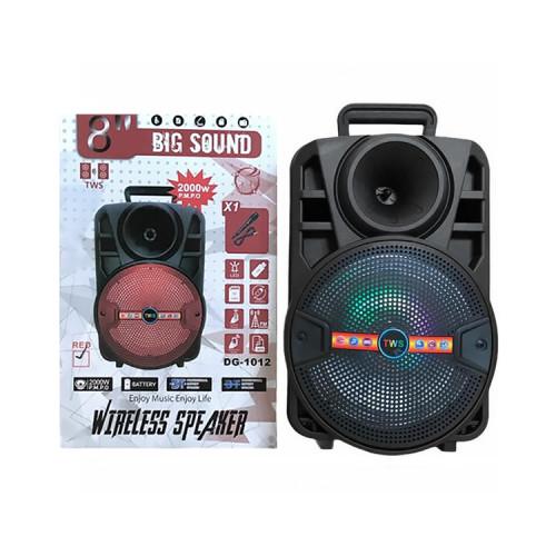 Портативная колонка DG-1012 с микрофоном + пульт ДУ черный