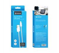 Кабель Micro USB CM1 1М белый DREAM