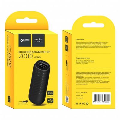 Внешний аккумулятор PB6 2000mAh 1A черный DREAM