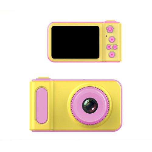 Детский фотоаппарат KC500 желто-розовый