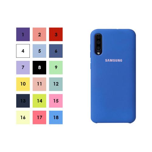 Накладка для Samsung Galaxy A50 с лого (в ассортименте) S-CASE
