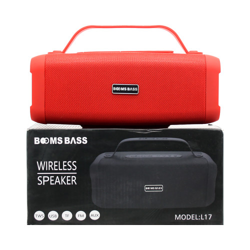 Портативная колонка L17 красный BOOMS BASS