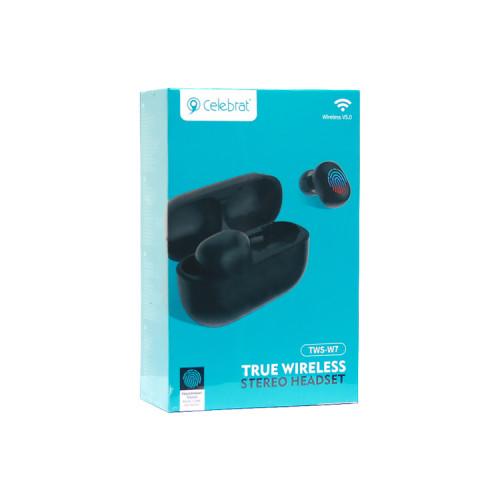 Беспроводные наушники TWS-W7 черный CELEBRAT