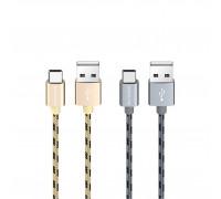 Кабель Micro USB BX24 2.4A серый BOROFONE