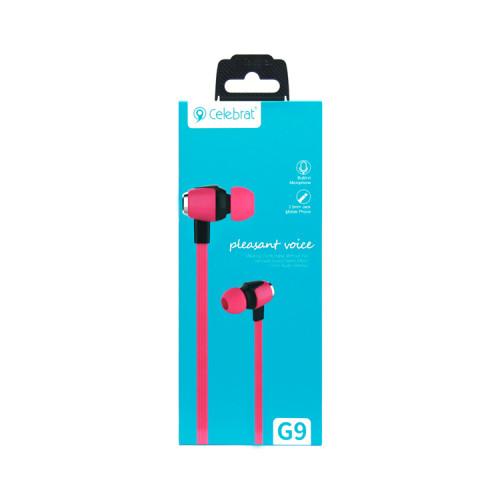 (К) Наушники с микрофоном G9 розовый CELEBRAT