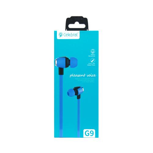 (К) Наушники с микрофоном G9 синий CELEBRAT