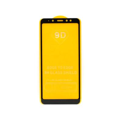 Защитное стекло 3D для Samsung Galaxy A8+ черный (техпак)
