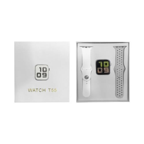 Смарт-часы T55 серый+белый APL