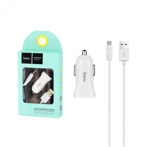 АЗУ 1USB Z2 + кабель Micro USB белый HOCO