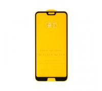 Защитное стекло 3D для Huawei Honor 10 черный (техпак)
