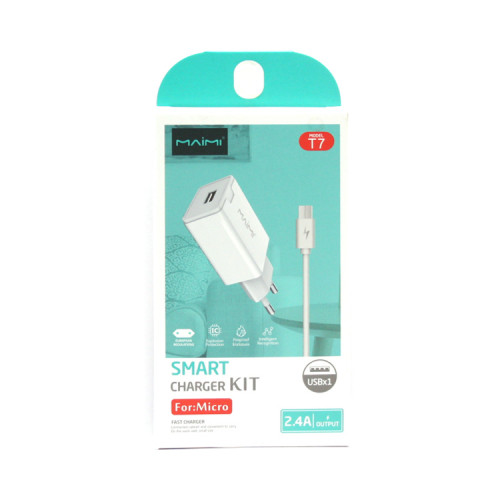 СЗУ USB + кабель Micro USB T7 белый Maimi
