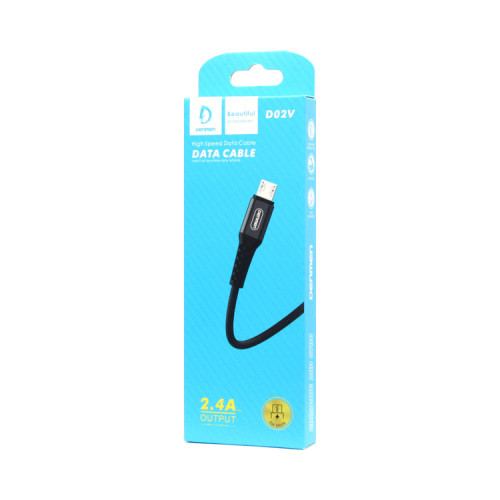 Кабель Micro USB D02V 2.4A черный DENMEN