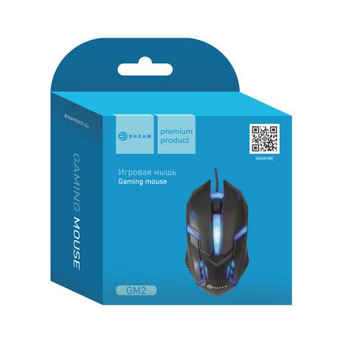 Мышь игровая GM2 (2400 dpi, 7 цветов подсветки) черный DREAM (мятая упаковка)