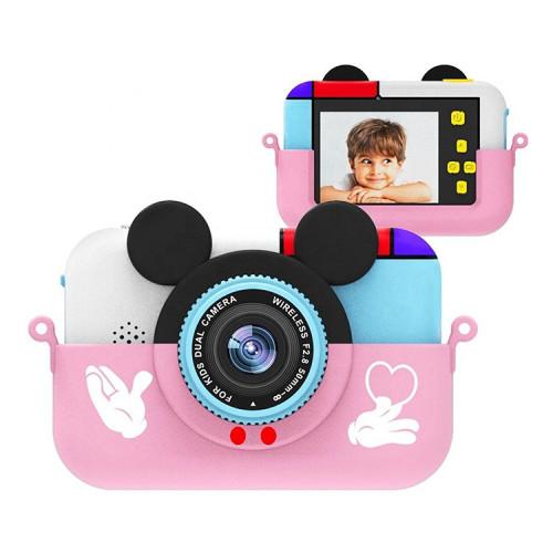 Детский фотоаппарат + чехол Микки WA180 розовый
