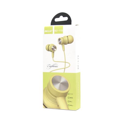 Наушники с микрофоном BZ-119 желтый BEZIR